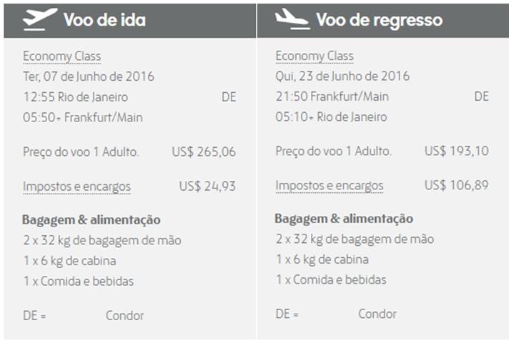 Passagens Aéreas para Europa em Promoção com Condor