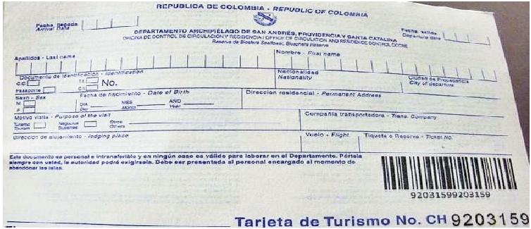 Comprovante pagamento Taxa - San Andres - Será que Volto?